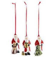 Villeroy & Boch Nostalgic Ornaments Santas 3-teilig Weihnachtsmann 9 cm 6655