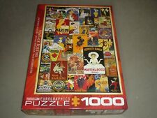 EUROGRAPHICS 1000 pc puzzle VINTAGE POSTERS - COMPLETE  EC