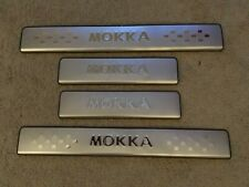 VAUXHALL MOKKA  DOOR SILL PLATES  STAINLESS STEEL - LOGO - AFTERMARKET YT-MK001