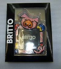 "Romero Britto Decorative Collectible Art 3""x3"" Frame Pig Image"