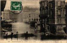 CPA PARIS Gare Saint-Lazare et Place de Rome INONDATIONS 1910 (606187)