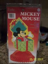 New Vintage Disney Mickey Mouse Present Honeycomb Tissue Centerpiece Mint