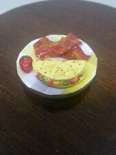 1:6 Dollhouse Miniature Food Veg Omelette, Bacon, Strawberry by Danyel Engel