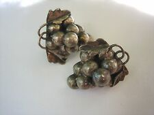VINTAGE Taxco Artist Aaron Plata STERLING GRAPE CLUSTER EARRINGS SIGNED