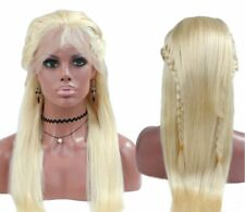 """Fabwigs 613 Blonde Wig Full Lace Human Hair  130% Density Silky Straight 22"""""""