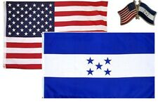 Wholesale Combo Usa & Honduras Country 2x3 2'x3' Flag & Friendship Lapel Pin