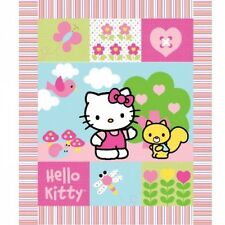 Sale Hello Kitty Patchwork Wall Hanging Panel 100% Cotton Fabric Patchwork
