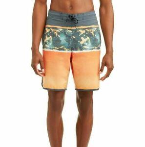 George Boardshorts Swim Trunks Size 3XL 48-50 Triblock Sunwashed Stretch UPF 50