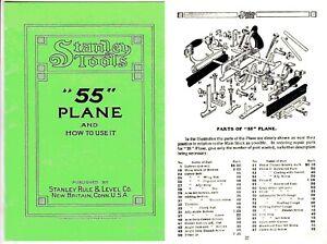Stanley 55 Universal Plane Manual UK Post Free