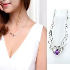 Hot Lover  Women's Silver Plated Angel Wing Necklace Jewelry Heart Pendants