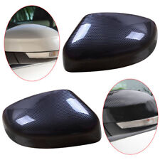 2pcs Rearview Mirrors Cover Trim Carbon Fiber Style Fit for Ford Focus 2012-2018
