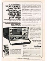 1974 Heath Heathkit 4510 Oscilloscsope DIY Kit Tv Repair ServiceVtg Print Ad