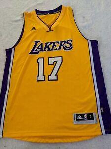 AUTH RARE NBA JEREMY LIN #17 LAKERS SIZE L