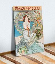 CANVAS WALL ART PAINTING PRINT WOMEN NOUVEAU Alphonse Mucha Monaco Monte Carlo