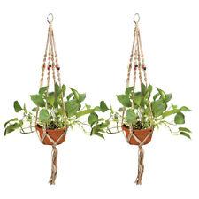 Indoor & Outdoor Decorative Plant & Flower Round & Square Pot Handmade Hanger