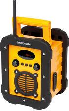 MEDION LIFE E66285 spritzwassergeschütztes IP44 Baustellenradio Bluetooth UKW/MW