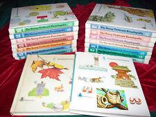 Lot 16 Vintage Young Children's Encyclopedia Britannica HB 1977 Full Set 1-16