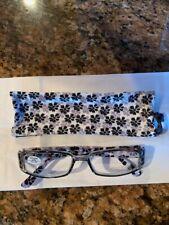 Women Flower Print 2.00 Reading Glasses Multi Color Spring Hinges