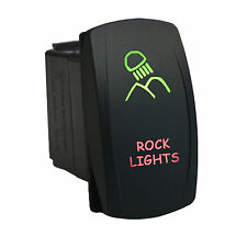 Rocker switch 615GR 12V ROCK LIGHTS Laser LED green red 20A