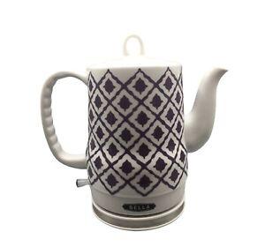 BELLA  1.5 Liter Electric Ceramic Tea Kettle with Detachable Base Plum Design