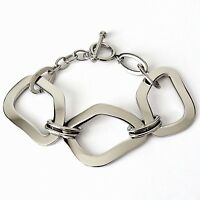 Armband aus Edelstahl Edelstahlarmband mit Knebelverschluss Damen