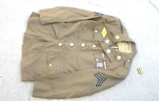 Old WW2 era 1942 US Army M-1928 Enlisted Dress Uniform Jacket & Insignia USED