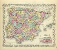 209 maps SPAIN PORTUGAL history SPANISH old Genealogy DVD