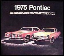 1975 Pontiac BIG Prestige ORIGINAL Brochure- Firebird LeMans Grand Prix 75 GM