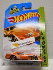 '76 Greenwood Corvette * ORANGE * 2014  Hot Wheels * L Case International * A99
