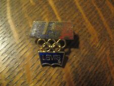 Levi's Levi Strauss 1984 Summer Olympics Los Angeles USA Olympic Rings Lapel Pin