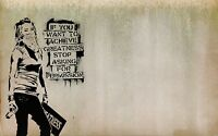 street art painting  URBAN BANKSY QUOTE  Print  700mmx 500mm Canvas Australia