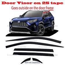 2S Tape Smoke Door Window Vent Visor Deflector â�6pcsâ� fits Toyota Rav4 2019-2021