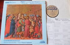 LISZT VIA CRUCIS LP LEEDS PARISH CHOIR ABBEY LPB 813 NM (1979) TREBLES ELGAR