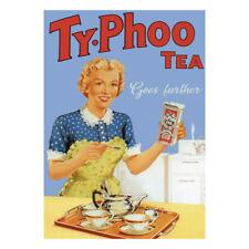 More details for metal wall typhoo tea sign advertising kitchen garage vintage classic advert uk