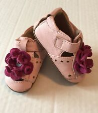 🌸 Livie & Luca Shoes Blossom Patent Leather Pink Flower Newborn 0-6 Months.