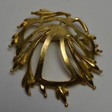 Vintage RENOIR SAUTEUR Goldtone Modernist Shape Pin Brooch