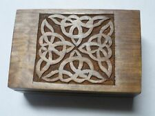 "Celtic Wood Box - Tarot or Jewelry -  6"" x 4"""