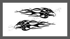 2 x Flame Tank Tribal Motorcycle MotorBike Bike Decal Sticker Vinyl Graphics 213