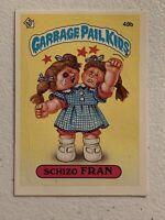 1985 Garbage Pail Kids Series 2 #49b Schizo Fran OS2 Rare Glossy * Card GPK