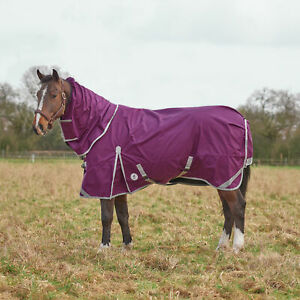 Derby House Elite Lightweight Detach-a-neck Pfc Free Horse Rug Turnout - Magenta