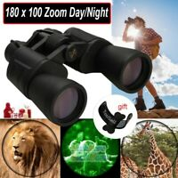 Waterproof HD 180x100 Zoom Military Binoculars Optics Hunting Camping Day/Night