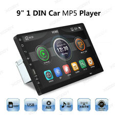 HD 9 Inch 1 Din Car MP5 MP3 Player Stereo FM Radio Bluetooth USB AUX Mirror Link