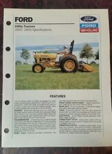 Ford 250c 260c Utility Tractor Bifold Brochure