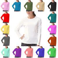 PAPAVAL KLST Kids Girls Boys Plain Long Sleeve Crew Uniform Jumper T-Shirt Tops