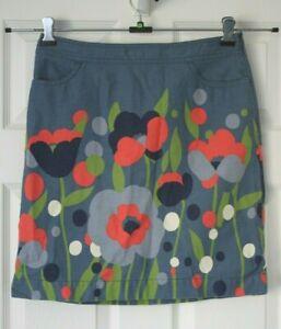 Boden ~ Floral Cotton Skirt ~ Size 10R