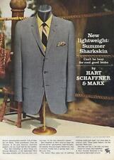 1964 Hart Schaffner & Marx PRINT AD Boxing corner theme men's sharkskin suit