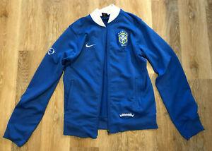 Retro Nike (Brazil) Brasil Football Blue Jacket Size L