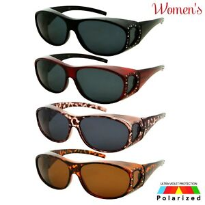 Womens Polarized Cover Put Over Sunglasses Wear Rx Glass Fit Driving Size Large