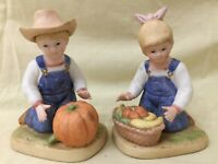 Denim Days Figurines (Lot of 2) by Homco Boy and Girl