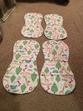4 pack Baby Burp cloths